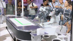 工博会上的协作机器人